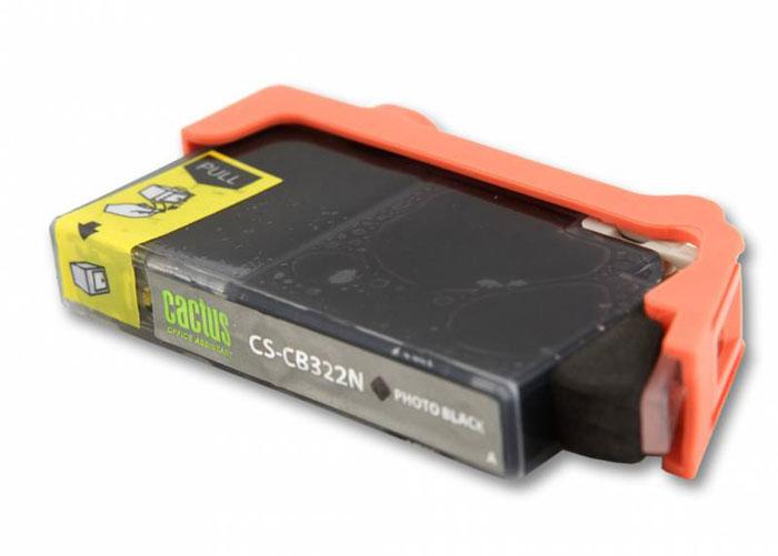 Cactus CS-CB322N Photo, Black струйный картридж для HP PhotoSmart B8553/C5383/C6383/D5463CS-CB322NКартридж Cactus CS-CB322N для струйных принтеров Canon. Расходные материалы Cactus для монохромной печати максимизируют характеристики принтера. Обеспечивают повышенную чёткость чёрного текста и плавность переходов оттенков серого цвета и полутонов, позволяют отображать мельчайшие детали изображения. Обеспечивают надежное качество печати.