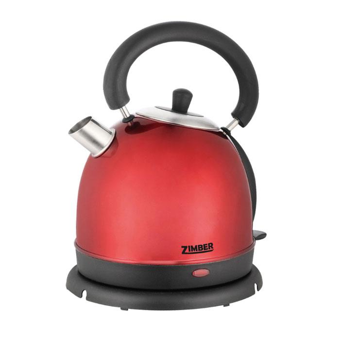 Zimber ZM-10766, Red электрический чайникZM-10766Электрический чайник Zimber ZM-10766 является прекрасным решением для тех, кто любит устраивать себе перерывы в работе на чашечку чая или кофе. Он прост в управлении и долговечен в использовании. Чайник автоматически выключается при закипании.