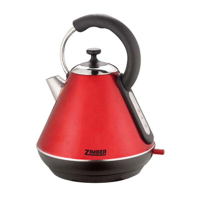 Zimber ZM-10769, Red электрический чайникZM-10769Электрический чайник Zimber ZM-10769 является прекрасным решением для тех, кто любит устраивать себе перерывы в работе на чашечку чая или кофе. Он прост в управлении и долговечен в использовании. Чайник автоматически выключается при закипании.