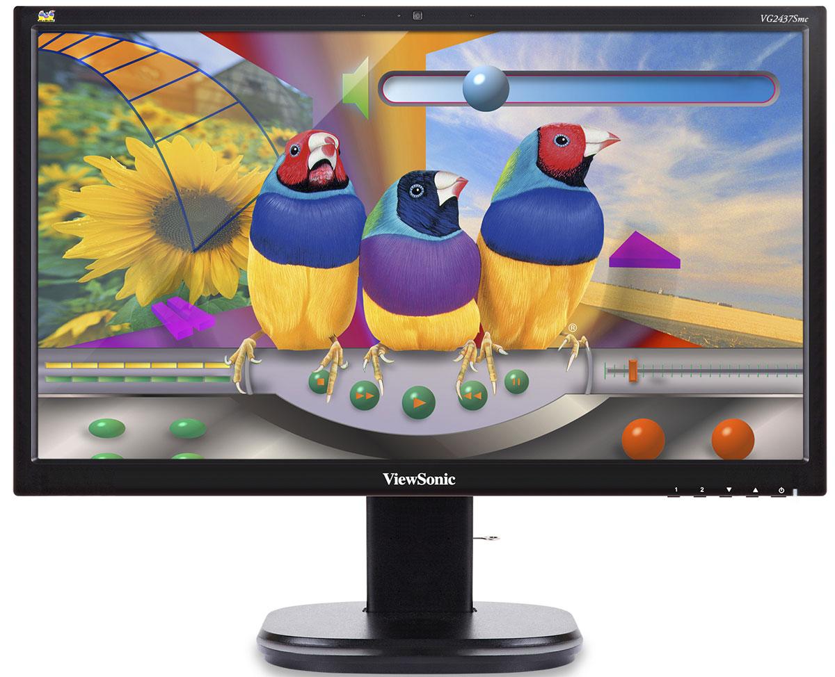 ViewSonic VG2437SMC мониторVS14995В 24-дюймовом эргономичном мониторе ViewSonic VG2437SMC имеются 2-мегапиксельная веб-камера, микрофон с эхо-компенсацией и стереодинамики для взаимодействия с любым программным обеспечением видео- и веб-конференций. Панель SuperClear MVA обеспечивает широкие углы обзора 178° и потрясающую контрастность. К характерным особенностям относятся разъемы DisplayPort, DVI, VGA и USB, эргономичная подставка, технологии Blue Light Filter и Flicker-Free, энергосберегающие режимы Eco и стандартная 3-летняя гарантия. Проводите ли вы деловое совещание, прослушиваете ли виртуальную лекцию или просто общаетесь со своими друзьями и родственниками, тесное общение с помощью монитора VG2437Smc поможет вам сократить расходы, организовать совместную работу и повысить производительность. Монитор VG2437Smc совместим с приложениями Microsoft Lync, Skype, Cisco Jabber и Webex, Citrix Gotomeeting, Adobe Connect и Google Hangouts. Монитор VG2437Smc со встроенной 2-мегапиксельной...