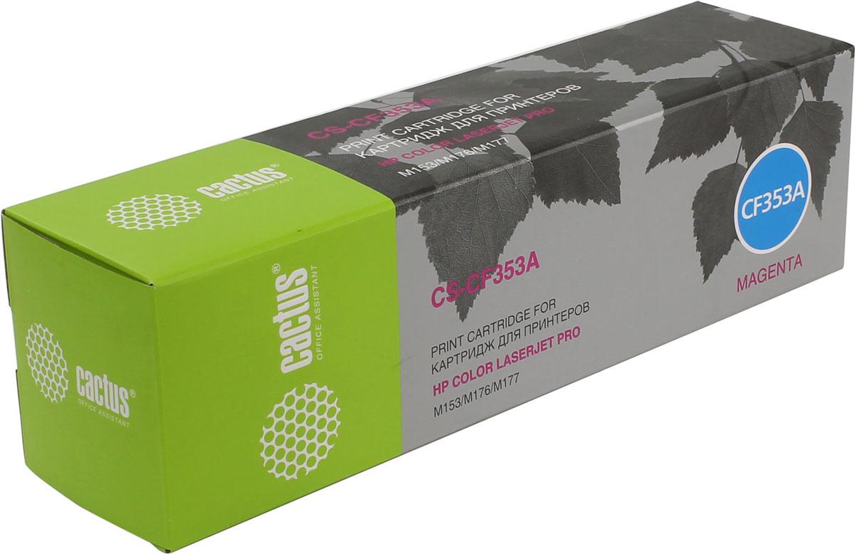 Cactus CS-CF353A, Magenta тонер-картридж для HP M176/M177CS-CF353AКартридж Cactus CS-CF353A для лазерных принтеров HP. Расходные материалы Cactus для печати максимизируют характеристики принтера. Обеспечивают повышенную четкость изображения и плавность переходов оттенков и полутонов, позволяют отображать мельчайшие детали изображения. Обеспечивают надежное качество печати.