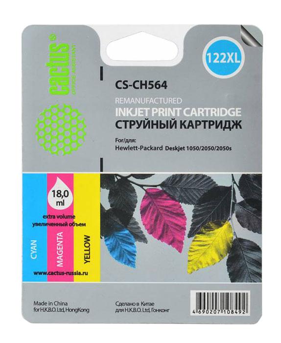 Cactus CS-CH564, Color струйный картридж для HP DeskJet 1050/2050/2050sCS-CH564Картридж Cactus CS-CH564 для струйный принтеров HP. Расходные материалы Cactus для печати максимизируют характеристики принтера. Обеспечивают повышенную четкость изображения и плавность переходов оттенков и полутонов, позволяют отображать мельчайшие детали изображения. Обеспечивают надежное качество печати.