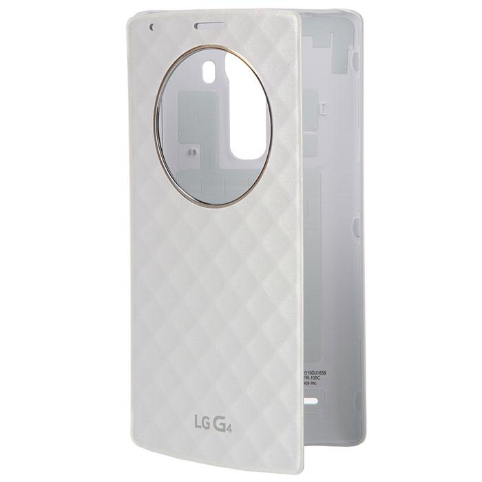 LG QuickCircle чехол для G4 H818, WhiteCFR-100C.AGRAWHНаличие умного чехла QuickCircle для LG G4 H818 обеспечивает мгновенный доступ к часам, погоде, музыке, позволяет принять или отклонить вызов и даже вести съёмку на камеру, не открывая чехла! А главное QuickCircle станет модным аксессуаром, выгодно подчеркивающим индивидуальность и стиль его владельца!