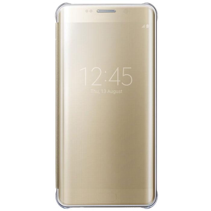 Samsung ClearView чехол для Galaxy S6 Edge+, GoldEF-ZG928CFEGRUЧехол Samsung ClearView для Galaxy S6 Edge+ идеально сочетается со стильным глянцевым корпусом смартфона. Он обеспечивает доступ к необходимой информации на экране гаджета. Вы можете принимать или отклонять звонки, смотреть время и дату и получать различные сообщения даже когда чехол закрыт. Флип откидывается влево. Samsung ClearView обеспечивает надежную и долговременную защиту вашего Galaxy S6 Edge+ от царапин, ударов и грязи.