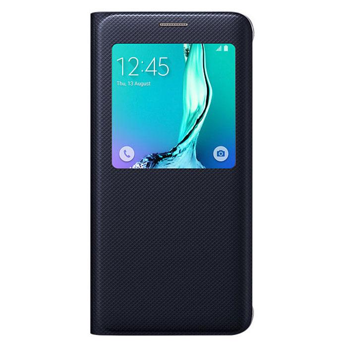 Samsung EF-CG928 S-View чехол для Galaxy S6 Edge+, BlackEF-CG928PBEGRUЧехол разработан в Samsung специально для Galaxy S6 Edge+. На флипе находится окошечко где вы всегда сможете видеть важную информацию, это время, дата, уровень заряда батареи, различные уведомления. Флип откидывается влево, задняя часть смартфона тоже защищена. Чехол практически не увеличивает размеры устройства.