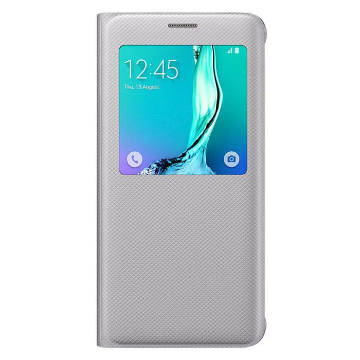 Samsung EF-CG928 S-View чехол для Galaxy S6 Edge+, SilverEF-CG928PSEGRUЧехол разработан в Samsung специально для Galaxy S6 Edge+. На флипе находится окошечко где вы всегда сможете видеть важную информацию, это время, дата, уровень заряда батареи, различные уведомления. Флип откидывается влево, задняя часть смартфона тоже защищена. Чехол практически не увеличивает размеры устройств
