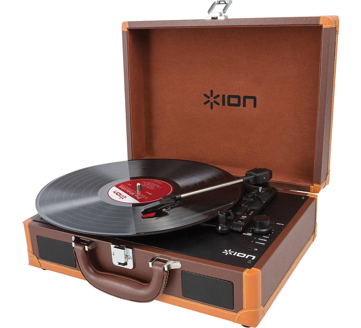 ION Audio Vinyl Motion Deluxe, Brown виниловый проигрыватель ( IONvmd-b )
