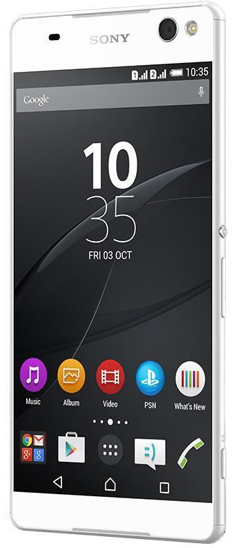 Sony Xperia C5 Ultra Dual, WhiteE5533WhiteВ этом смартфоне основная камера - впереди... и сзади тоже! Теперь фото, снятые на основную и фронтальную камеры этого смартфона с двумя SIM-картами, невозможно отличить: они одинаково качественные! Обе камеры оснащены матрицей на 13 МП, широкоугольным объективом и функцией автоматического распознавания условий съемки, благодаря чему ваши селфи будут не менее яркими и четкими, чем фото городских пейзажей. Функция автоматического распознавания условий съемки во фронтальной и основной камерах. Обе камеры Xperia C5 Ultra Dual - основная и фронтальная для селфи - поддерживают функцию автоматического распознавания условий съемки, которая сама регулирует параметры, чтобы фотографии всегда получались отличными. Благодаря этому ваши фото и селфи будут выглядеть профессионально, даже когда вы снимаете при ярком контровом освещении либо ночью при свете звезд. Уникальная вспышка Selfie Flash Фронтальная камера для селфи на Xperia C5 Ultra Dual оснащена...