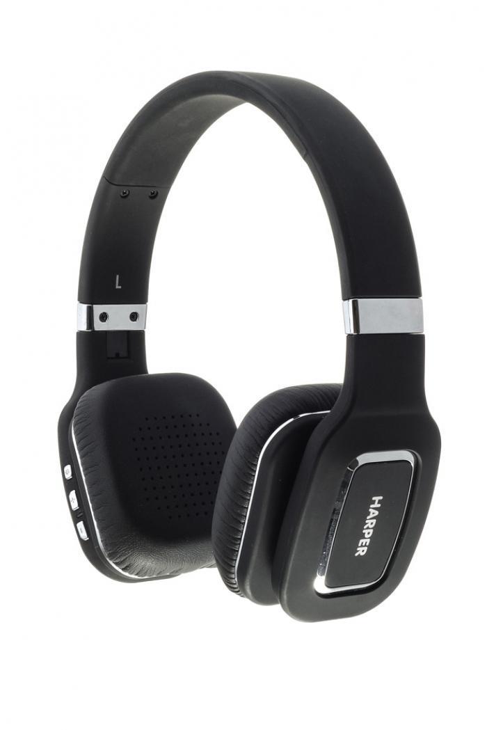 Harper HB-402, Black наушникиH00000464Bluetooth Стерео Наушники с Микрофоном Складная конструкция Чистый звук с кабелем или без