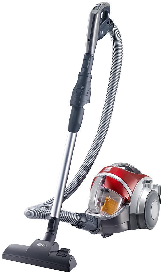 LG VK88504HUG пылесосVK88504HUGПылесос LG не только делает пол Вашей комнаты чистым, но и эффективно убирает пыль и волосы с ковра с помощью вращающейся турбо-щетки (Turbine Brush). Система Компрессор использует уникальную компрессионную лопасть, которая спрессовывает попадающую в контейнер пыль. Это позволяет вместить до 3 раз больше пыли по сравнению с моделями без Компрессора, и легко выбросить плотные спрессованные брикеты. Компания LG предоставляет 10-летнюю гарантию на систему прессования пыли Kompressor (контейнер, лопасть, механизм вращения, мотор RotaBlade)*. Также на каждый пылесос распространяется 1 год полного гарантийного обслуживания. Система фильтрации пыли Турбо Циклон обеспечивает постоянно высокую мощность всасывани. делая процесс фильтрации и компрессии пыли более эффективным. Воздушно-пылевой поток попадая в систему Турбо Циклон делится на два потока: пыль отделяется от воздуха. При этом поток пыли попадает в отдельный контейнер, где пыль прессуется в брикеты, а воздушный поток свободно...