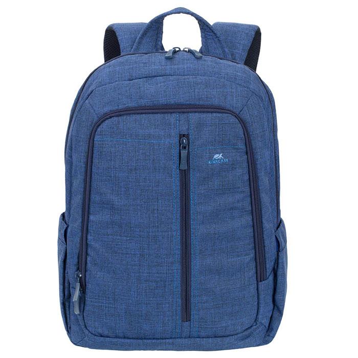 Riva 7560 рюкзак для ноутбука 15,6, BlueRivaCase 7560 blueСтильный городской рюкзак для ноутбука Riva 7560 изготовлен из высококачественной водоотталкивающей ткани. Легкая конструкция с утолщенными стенками создана для защиты ноутбука от случайных ударов и царапин, а также от пыли и влаги. Основное отделение с вертикальной загрузкой имеет мягкие стенки и ремень для надежной фиксации ноутбука до 15.6. Рюкзак оборудован также внутренним отделением для планшета до 10.1. Внешний передний карман на молнии для хранения аксессуаров также имеет панель-органайзер для визитных карт, флэш-накопителей, смартфона, а два боковых кармана служат для размещения емкостей с водой. Двойная застежка молния обеспечивает удобный доступ к устройству. Мягкая ручка для переноски и наплечные ремни со смягчающими подкладками помогут чувствовать себя комфортно в самом долгом путешествии. Специальная система крепления ремешков на липучке закрепляет их и создает дополнительное удобство.