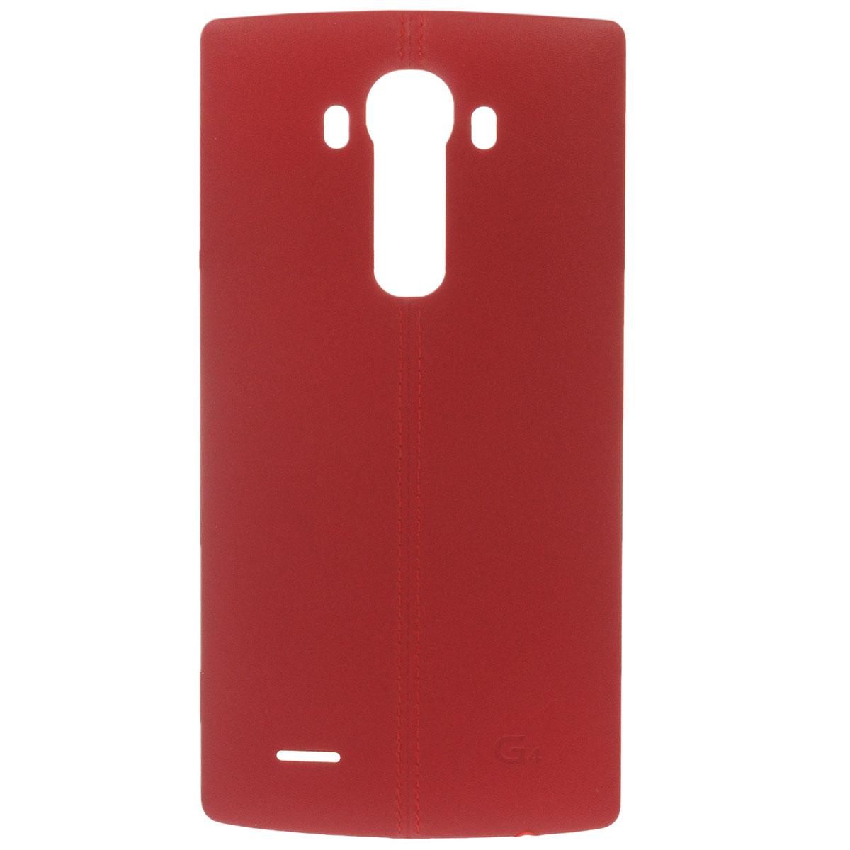 LG BackCover чехол для G4 H818, RedCPR-110.AGRAFRЧехол LG BackCover для G4 H818 предназначен для защиты корпуса смартфона от механических повреждений и царапин в процессе эксплуатации. Покрытие чехла из натуральной кожи со стильным швом-строчкой. Доступна работа NFC.