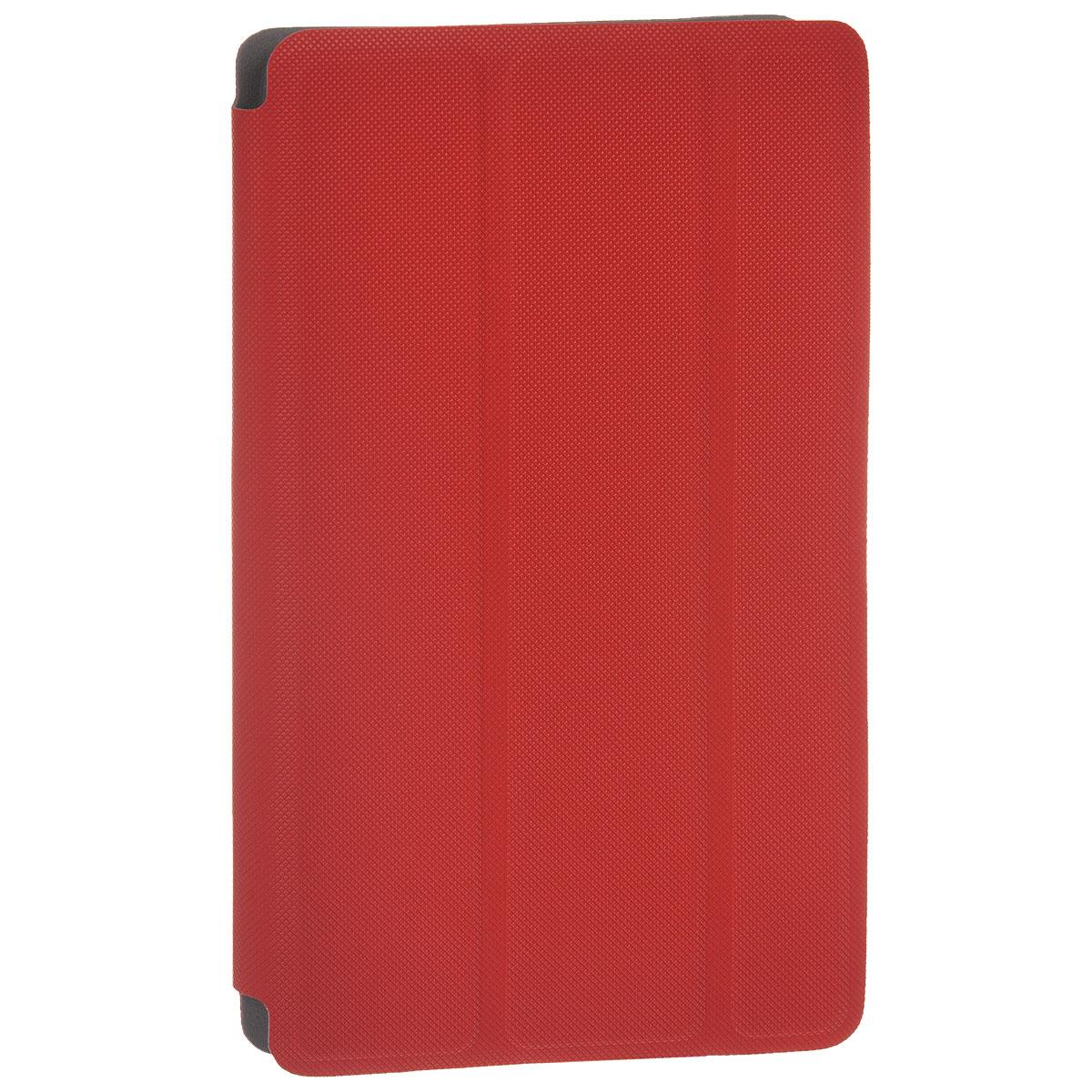 ТJ Stivenson универсальный чехол для планшета 7, RedS020703Универсальный чехол ТJ Stivenson для планшетов и электронных книг с диагональю экрана 7 - это стильный и лаконичный аксессуар, позволяющий сохранить устройство в идеальном состоянии. Надежно удерживая технику, обложка защищает корпус и дисплей от появления царапин, налипания пыли. Имеет свободный доступ ко всем разъемам устройства.