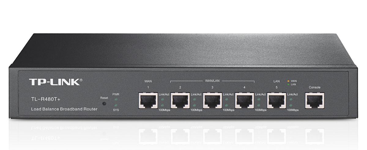TP-Link TL-R480T+ маршрутизаторTL-R480T+TP-Link TL-R480T+ - устройство, разработанное специально для малого бизнеса. Проводной маршрутизатор оснащен тремя взаимозаменяемыми портами, которые могут использоваться в качестве портов LAN или WAN в зависимости от требований, выдвигаемых к вашему подключению к Интернету. В то же время, поддержка функций управления потоком данных гарантирует качественную и надежную передачу информации. TL-R480T+ обеспечит Вам высокопродуктивную современную сеть и надежное Ethernet соединение. «Умная» балансировка нагрузки Встроенная стратегия автоматического разветвления каналов позволяет разделять потоки данных в соответствии с загруженностью и требуемой пропускной способностью, таким образом, увеличивая скорость передачи по каждому из каналов. Более того, теперь вы сами можете управлять пропускной способностью WAN, устанавливая соответствующий процент. Данная функция балансировки очень удобна в использовании. Поддержка функции QoS для каждого IP-адреса и...