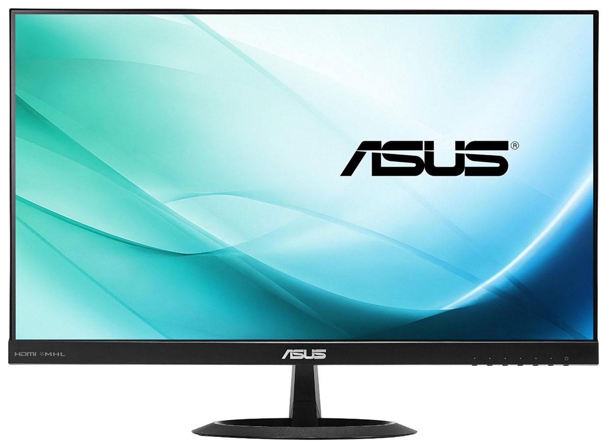 Asus VX24AH монитор90LM0110-B01370Широкоформатный монитор Asus VX24AH с разрешением 2560x1440 пикселей, светодиодной подсветкой и великолепными углами обзора на уровне 178°. Большой экран позволяет с удобством разместить множество окошек приложений и вспомогательных панелей для комфортной работы, а точная цветопередача поможет увидеть на экране именно то, что получится на печати. В монитор встроены два 2-ваттных динамика, а для подключения к источнику видеосигнала служат интерфейсы HDMI. Видеть больше и лучше: Монитор VX24AH обладает высоким разрешением 2560x1440 пикселей, поэтому он позволяет увидеть больше, чем обычные мониторы с низким разрешением. Это особенно важно при использовании профессиональных приложений, связанных с обработкой высококачественных изображений большого размера. И для работы, и для развлечений: Монитор VX24AH может похвастать широкими углами обзора (на уровне 178°) как по горизонтали, так и по вертикали. Благодаря этому изображение практически...