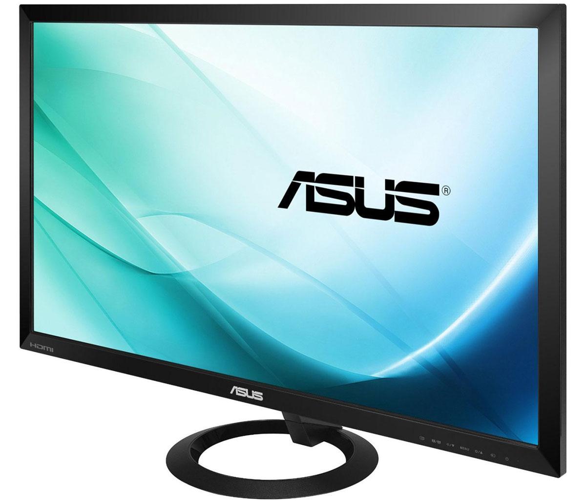 Asus VX278H монитор90LM01I0-B01170Asus VX278H - это энергоэффективный монитор со светодиодной подсветкой, экстремально низким временем отклика и высокой контрастностью. Оригинальный дизайн этой модели основывается на контрасте между круглой подставкой и строгими прямыми линиями тонкого корпуса. Благодаря технологии ASCR, которая динамически изменяет яркость подсветки в зависимости от текущего изображения, контрастность данного монитора достигает фантастического уровня – 80 000 000:1. Данный монитор обладает разрешением 1920x1080 пикселей и, таким образом, поддерживает формат видео Full- HD 1080p. Малое среднее время отклика – всего 1 мс (при переключении между полутонами) – означает отсутствие темных «шлейфов» позади движущихся объектов и плавное воспроизведение видео. Функция контроля соотношения сторон позволяет пользователям указать предпочтительный способ отображения видеоматериала при масштабировании: растягивать картинку на весь экран или сохранять соотношение сторон...