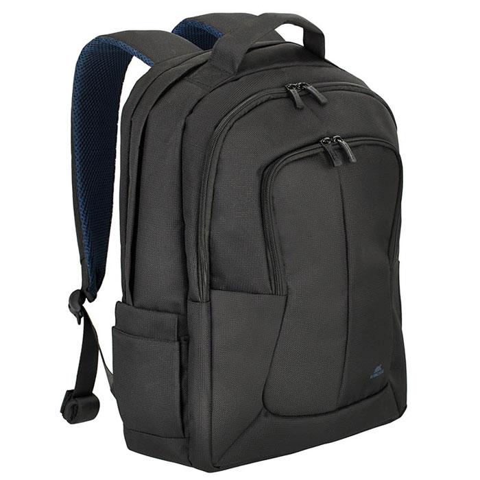 Riva 8460 рюкзак для ноутбука 17, BlackRivaCase 8460 blackМногофункциональный рюкзак Riva 8460 для ноутбука до 17.3 идеально подходит для деловых поездок и туристических путешествий. Он изготовлен из плотного синтетического материала и имеет утолщенные стенки для лучшей защиты ноутбука от случайных ударов и царапин, а также от пыли и влаги. Основное отделение для ноутбука с вертикальной загрузкой имеет мягкие стенки и ремень для надежной фиксации ноутбука до 17. Просторная секция на молнии предназначена для хранения книг и документов. В дополнительное внутреннее отделение вы можете положить планшет до 10.1. Два внешних передних кармана на молнии служат для хранения аксессуаров, зарядного устройства и визитных карт, авторучек, смартфона. Двойная застежка молния обеспечивает удобный доступ к устройству. Мягкая ручка для переноски и наплечные ремни со смягчающими подкладками помогут чувствовать себя комфортно в самом долгом путешествии. Сетчатый материал задней стенки рюкзака обеспечивает циркуляцию воздуха для максимального комфорта вашей...