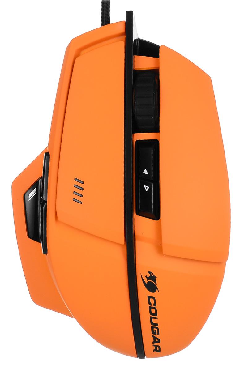 Cougar 600M, Orange мышьCU600M-OИгровая мышь Cougar 600М имеет корпус обтекаемой формы и содержит начинку топовой модели Cougar 700М. Дизайн мыши Cougar 600М уникален, выполнен в высококачественном матовом Soft Touch пластике. Переключатель снайперского режима: Переключатель установлен под углом 45° и обеспечивают максимальную скорость и точное прицеливание во время игры. Программируемый. Переключатели OMRON: Гарантировано 5 миллионов кликов для самой продолжительной игровой жизни. Высокоточный сенсор Avago 9800: Сенсорная технология игровой точности 8200 dpi. Переключение On-The-Fly: Быстрое переключение между различными настройками разрешения - 800 / 1600 / 3200 / 5600 / 8200 dpi. 8 программируемых кнопок и колесико: Кнопки расположены в специально выбранных зонах на корпусе мыши. Первоклассное колесо прокрутки, выделяющиеся среди других непревзойденной точностью и четкой обратной связью. Система Cougar Uix: ...