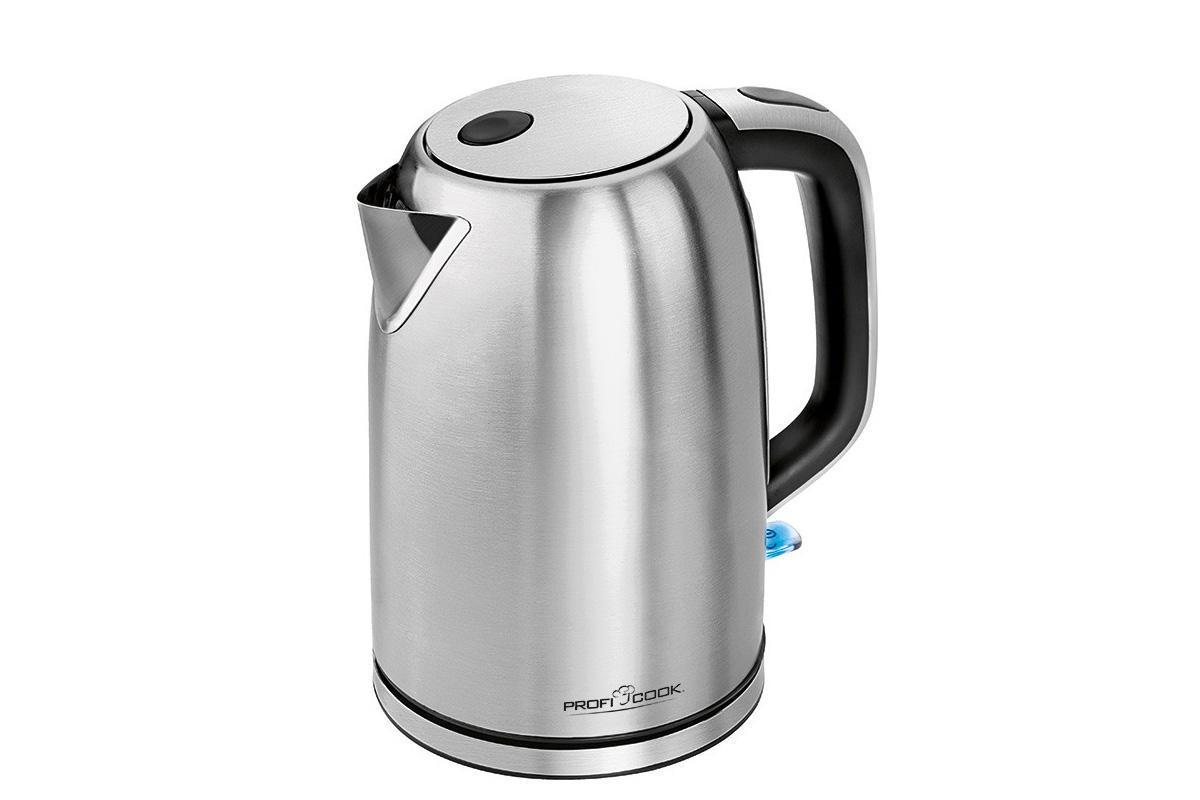 Profi Cook PC-WKS 1083 электрический чайникPC-WKS 1083Чайник оригинального дизайна изготовлен из нержавеющей стали и имеет увеличенный индикатор уровня воды. Чайник объемом 1,5 л отлично впишется в интерьер современной кухни.