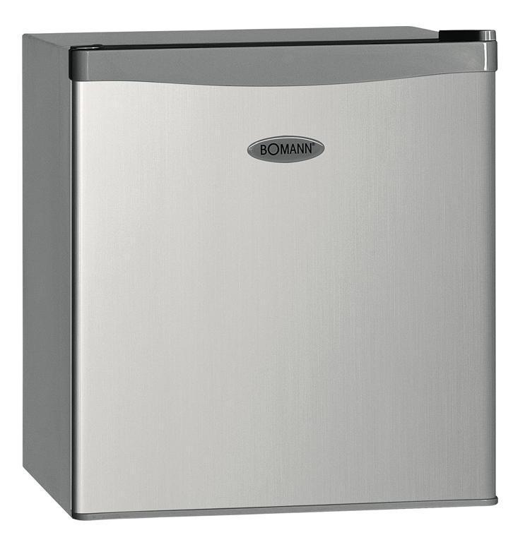 Bomann KB 389 A++/43L, Silver холодильникKB 389 silber A++/43LРазмеры: высота (см): 51, ширина (см): 43.9, глубина (см): 47 Общий объем/ Полезный объем: Холодильника (л): 43/42 Холодильной камеры (л): 37/36 Морозильной камеры (л): 6/6 Класс энергопотребления: A++ Климатический класс: N-T (от +16°С до +43°С) Количество компрессоров: 1 Цвет: белый Холодильное отделение: 1 полка Плавная регулировка температуры в диапазоне от 0 до +8 °C Размораживание: ручное Морозильное отделение: Лоток для льда Дополнительная информация: Перенавешиваемая дверца Регулируемые ножки Уровень шума: 42 дБ Хладагент: R600a Вес нетто: 14 кг Мощность: 70 Вт