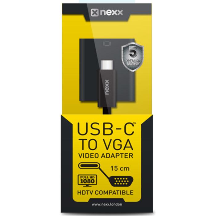Nexx UC-VSPA-01, Black адаптер USB-C to VGAUC-VSPA-01Адаптер Nexx UC-VSPA-01 позволяет подключить внешний дисплей или проектор к ноутбуку, оборудованному USB-C портом, например 12 MacBook или ChromeBook Pixel 2. Он также поддерживает разрешения FullHD (1920 x 1080) и QXGA (2048 x 1536). Это просто идеальное решение для презентаций! Видео - поддержка QXGA (2048 x 1536)