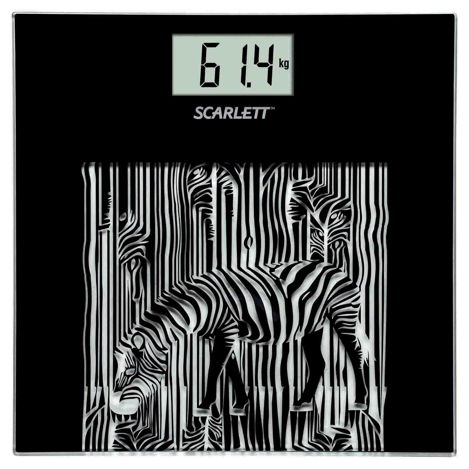 Scarlett SC-BS33E004 Zebra весы напольные электронныеSC-BS33E004