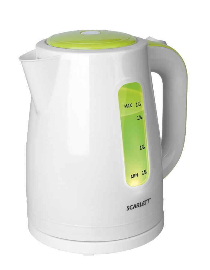 Scarlett SC-EK18P27, White Green электрический чайник