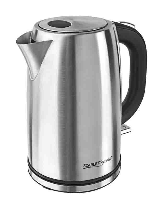 Scarlett SL-1502 электрический чайникSL-1502Scarlett SL-1502 - стильный электрочайник, который станет ярким дополнением любой кухни. Корпус электрочайника изготовлен из высококачественной нержавеющей стали.
