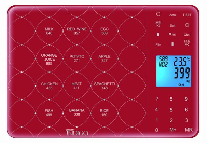 Scarlett IS-565, Bordeaux весы кухонные