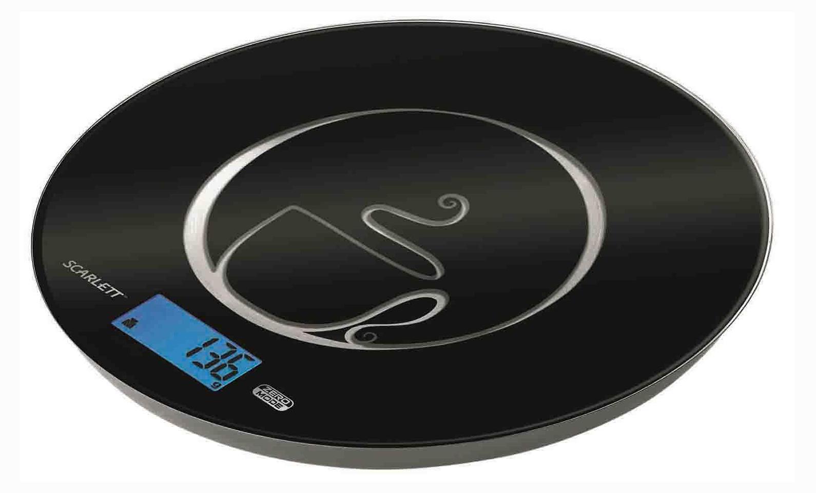 Scarlett SC-1215, Black весы кухонные