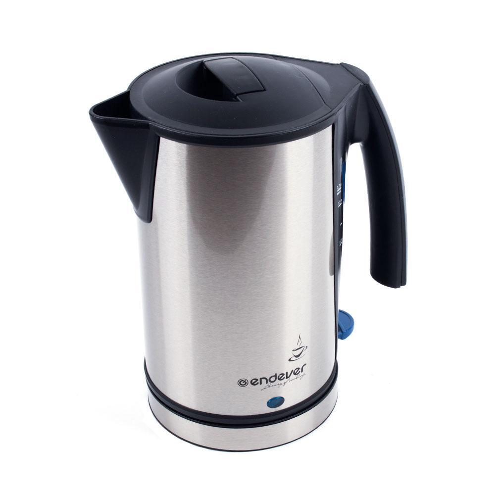 Endever KR-224 электрический чайникKR-224Электрический чайник – один из самых необходимых электроприборов на любой кухне. Чайник Endever SkyLine KR-224S – это высокое качество изготовления, современный дизайн, стильная расцветка! Он украсит интерьер любой кухни и создаст прекрасное настроение! Автоотключение при закипании. Автоотключение при отсутствии воды. Шкала индикации уровня воды. Световой индикатор нагревания. Эргономичная ненагревающаяся ручка. Беспроводное соедиение позволяет вращать чайник на подставке на 360°. Скрытый нагревательный элемент. Корпус из высококачественной нержавеющей стали. Cъемный фильтр от накипи.