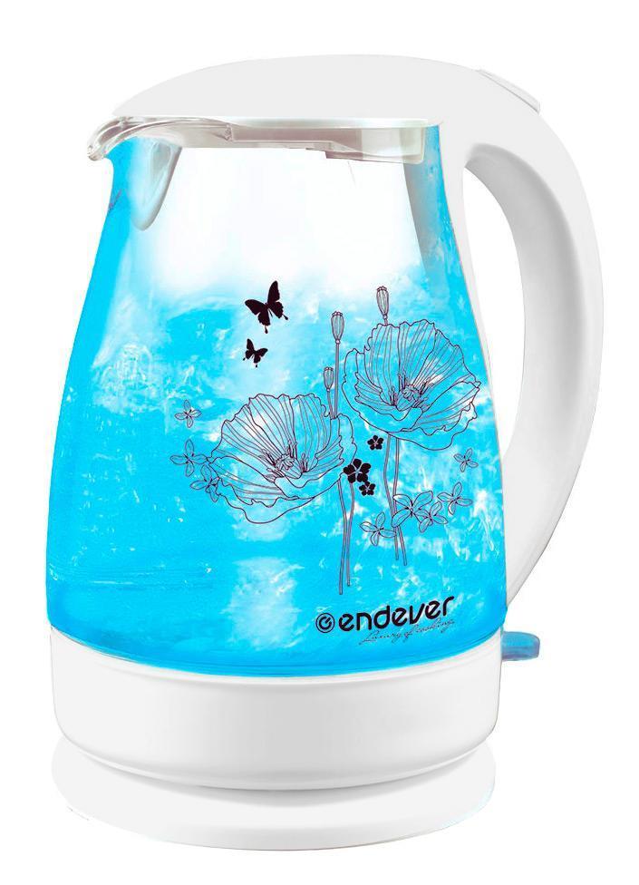 Endever KR-308G электрический чайникKR-308GЭлектрический чайник – один из самых необходимых электроприборов на любой кухне. Чайник Endever SkyLine KR-308G – это высокое качество изготовления, современный дизайн, стильная расцветка. Чайники Endever SkyLine KR-308G – модель из термостойкого био-стекла, выполненная в классическом элегантном дизайне с внутренней светодиодной подсветкой и оригинальным рисунком на корпусе. Кроме того модель SkyLine KR-308G оснащена дисковым нагревательным элементом и контроллером STRIX, обеспечивающим 15000 циклов закипания. Он украсит интерьер любой кухни и создаст прекрасное настроение!