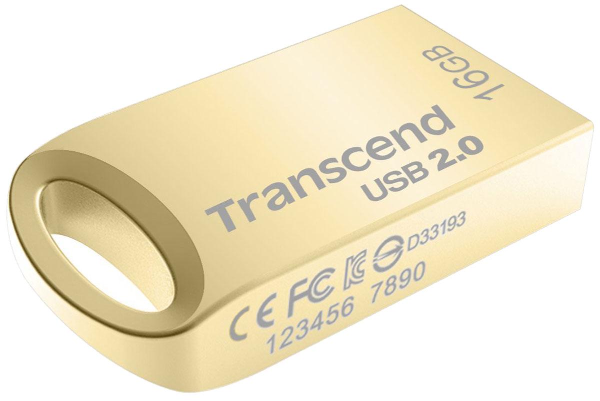 Transcend JetFlash 510 16GB, Gold USB-накопитель