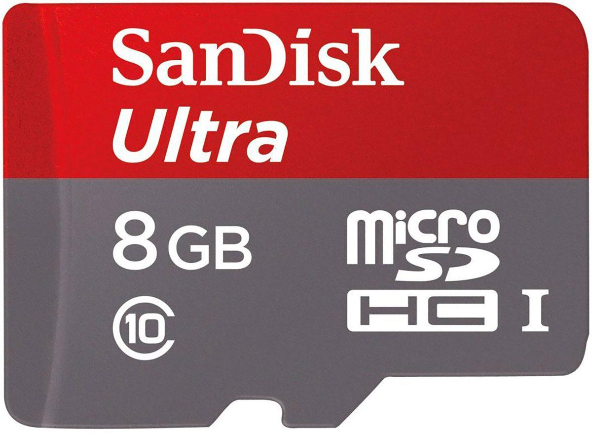 SanDisk Ultra microSDHC Class 10 UHS-I 8GB карта памяти для фотокамерSDSDQUIN-008G-G4Снимайте и храните больше фотографий высокого качества и видео в формате Full HD на смартфоне или планшете Android, используя карту памяти SanDisk Ultra microSDHC Class 10 UHS-I 8GB. Благодаря емкости 8 ГБ вы сможете снимать больше фотографий и видеороликов, не беспокоясь об объеме свободного места. А приложение SanDisk Memory Zone, доступное в магазине Google Play, служит удобным средством для просмотра всех файлов из памяти телефона, доступа к ним и создания резервных копий. Приложение можно настроить на автоматическую выгрузку файлов со встроенного накопителя на карту памяти, что поможет вашему смартфону работать с максимальной производительностью Класс быстродействия 10 для видеосъемки в формате Full HD Эта карта памяти относится к классу 10 для записи видео в высоком качестве и позволяет снимать видео Full HD без выпадения кадров и заедания. А благодаря большой емкости вы сможете хранить множество видеофайлов Full HD без необходимости переноса их на компьютер....