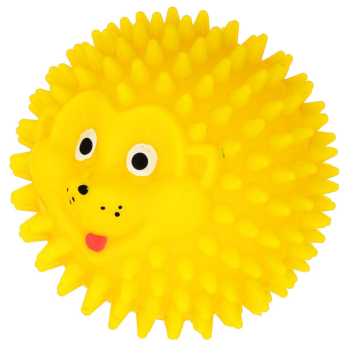 Массажер Дельтатерм Шарик-Ежик, цвет: желтый, диаметр 85 мм00-00000228_желтыйС помощью массажного мяча Шарик-Ежик можно самостоятельно проводить мягкий массаж ладоней, стоп и всего тела. Такой массаж способствует повышению кожно-мышечного тонуса, уменьшению венозного застоя и ускорению капиллярного кровотока, улучшению функционирования периферической и центральной нервных систем. Идеально подходит для проведения массажа у маленьких детей. Развивает мышление, координацию движений и совершенствует моторику нежных пальчиков малыша и является интересной веселой игрушкой.