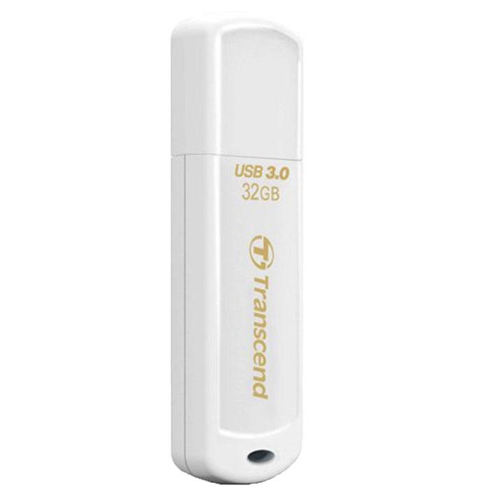 Transcend JetFlash 730 32GB, White USB-накопительTS32GJF730Те, кто всегда ценил в вещах качество, оценят элегантный и выразительный дизайн USB-накопителя Transcend JetFlash 730. Утончённый вид JetFlash 730 в белом исполнении соединил в себе стойкость и лёгкость пластикового корпуса, который не только красиво выглядит, но и надёжно защищает важную информацию, куда бы вы не пошли.