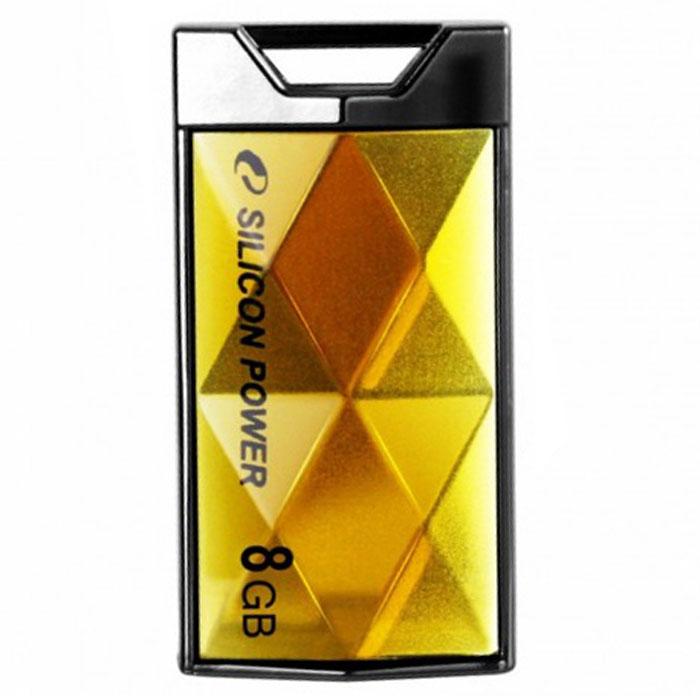Silicon Power Touch 850 8GB, Amber USB-накопитель