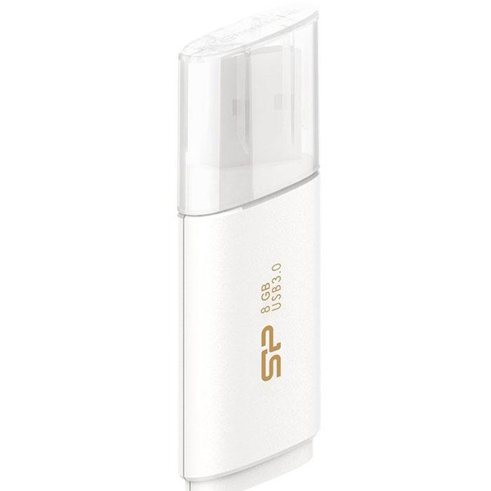 Silicon Power Blaze B06 8GB, White USB-накопитель