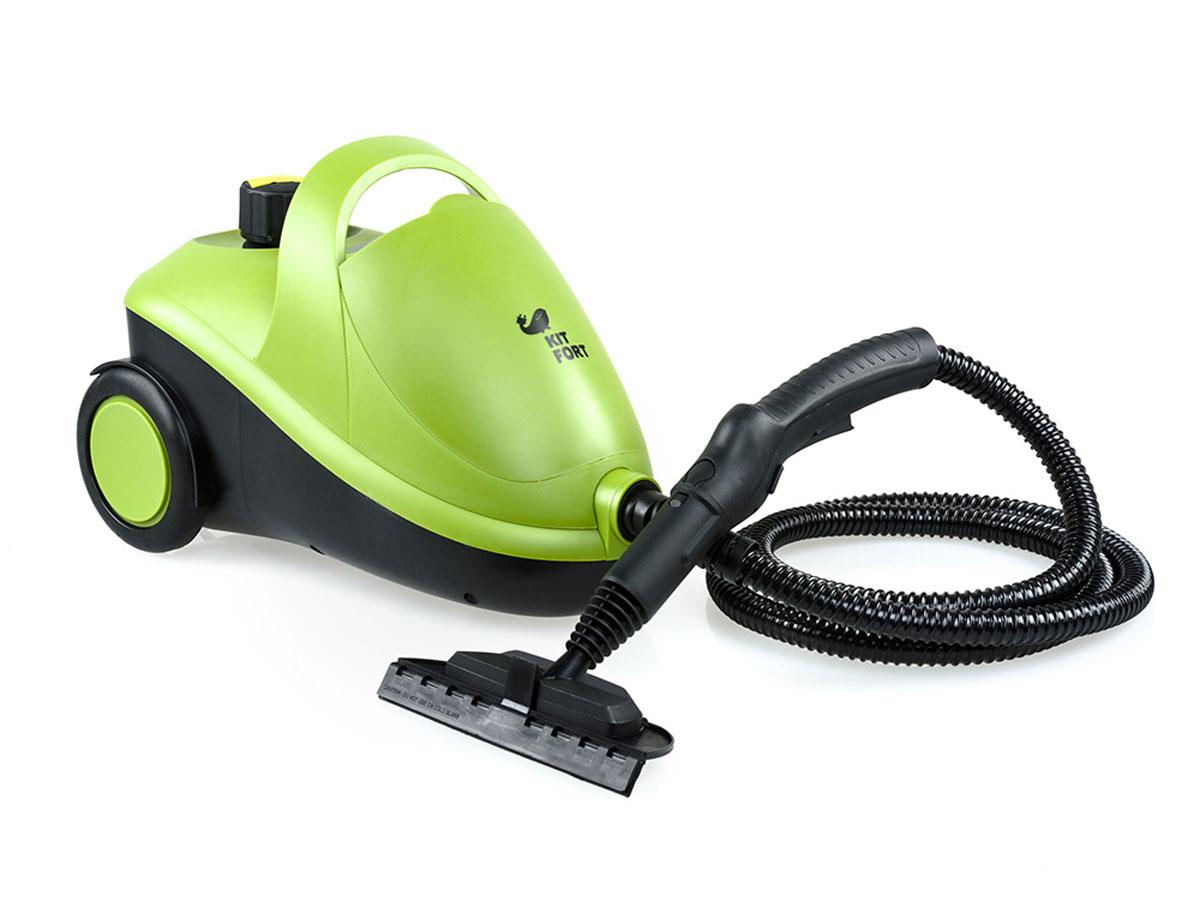 Kitfort KT-905 пароочистительKT-905Пароочиститель - многофункциональный аппарат, способный заменить моющий пылесос, дезинфектор, стеклоочиститель, отпариватель для тканей. Используя силу горячего пара, пароочиститель великолепно очищает любые поверхности и обеспечивает деликатную глажку вещей. Прибор очень удобен в использовании, и работа с ним не требует от пользователя каких-то особых навыков и умений. Устройство безопасно для здоровья человека и не приносит вреда окружающей среде. Горячий пар под давлением может удалять грязь, жир и известковые отложения с различных поверхностей, убивать патогенные микроорганизмы, бактерии и домашних клещей, которые могут вызывать аллергические реакции и астму. Сухой пар быстро испаряется, не оставляя следов влаги на поверхности. При очистке поверхностей паром не требуется применения химических чистящих средств, что улучшает экологию дома, и также позволяет сэкономить на покупке чистящих средств. Kitfort КТ-905 имеет классическую напольную компоновку корпуса. В комплекте...
