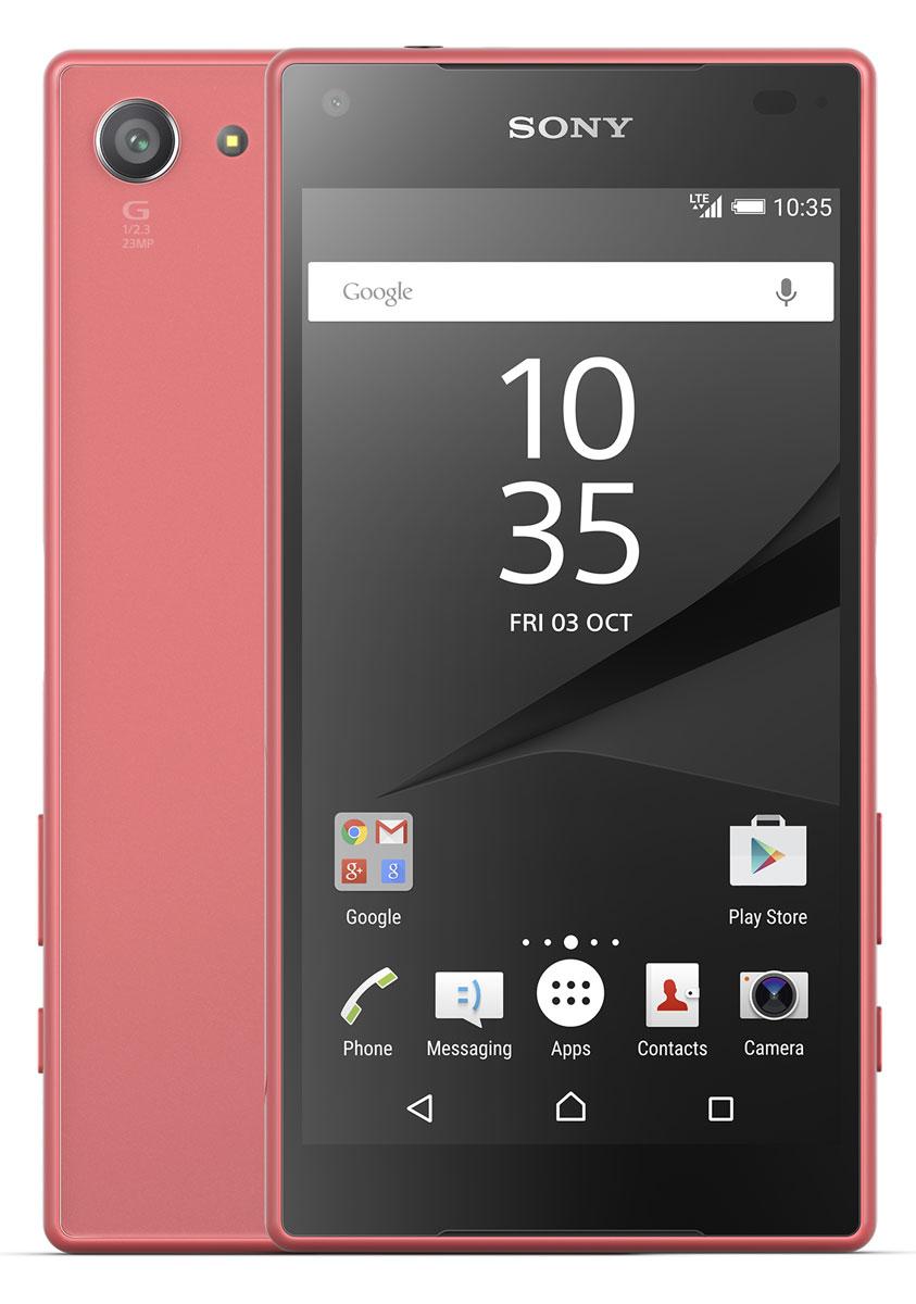 Sony Xperia Z5 Compact, CoralE5823CoralSony Xperia Z5 Compact - не просто функциональный смартфон. Это устройство, которое расширяет ваши возможности и горизонты. По своим функциям он не уступает смартфонам с большими дисплеями, а благодаря компактному размеру его удобнее использовать в повседневной жизни. В нем всё идеально сбалансировано: дизайн, доступный в разных расцветках, инновации, которые позволяют идти в ногу с прогрессом, и комфортный размер дисплея — 4,6 дюйма. Данная модель имеет комфортные для работы компактные размеры, яркий красочный экран и элементы дизайна, которые притягивают взгляды окружающих. Стильное тиснение на рамке и матированное стекло на задней панели никого не оставит равнодушным. С водостойким корпусом Sony вам больше не придется бояться воды Xperia Z5 Compact не боится воды: он имеет водостойкий корпус, способный выдержать погружение на глубину более метра. Поэтому вам нечего беспокоиться, если вы пролили на него жидкость или попали с ним под дождь. ...