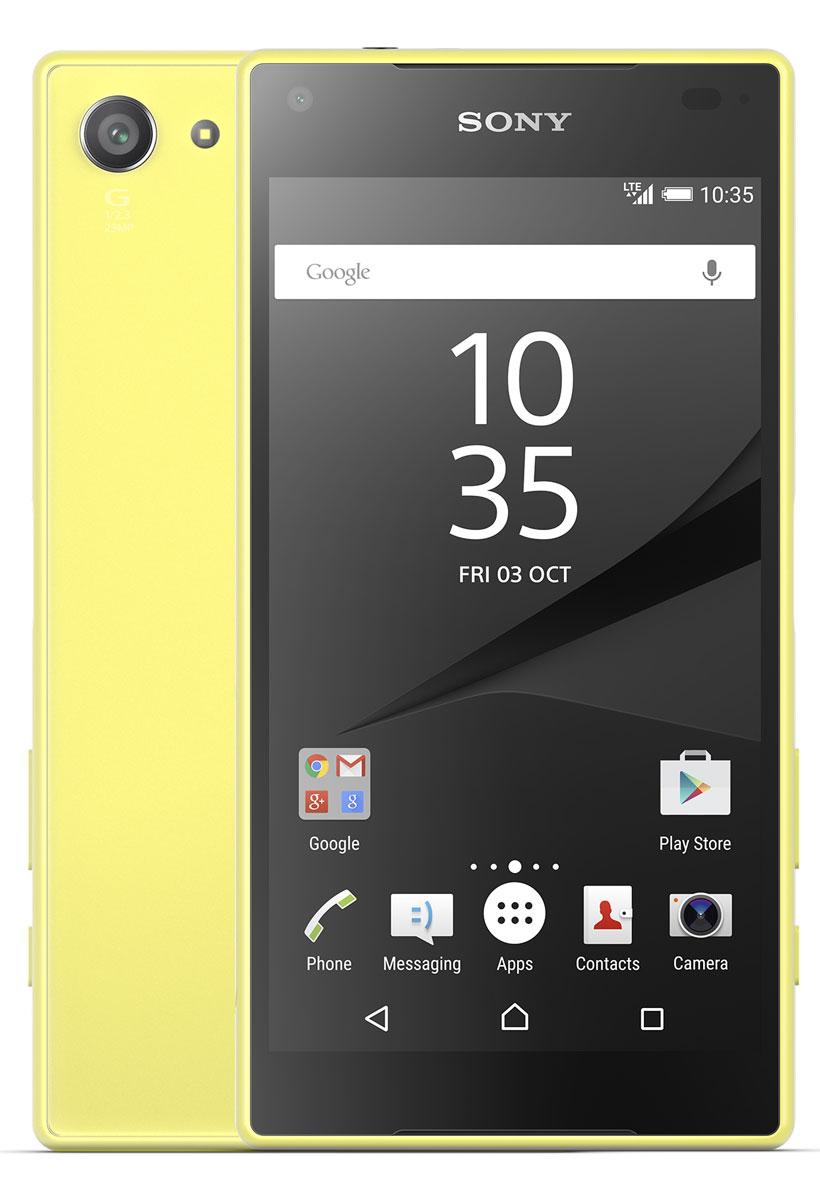 Sony Xperia Z5 Compact, YellowE5823YellowSony Xperia Z5 Compact - не просто функциональный смартфон. Это устройство, которое расширяет ваши возможности и горизонты. По своим функциям он не уступает смартфонам с большими дисплеями, а благодаря компактному размеру его удобнее использовать в повседневной жизни. В нем всё идеально сбалансировано: дизайн, доступный в разных расцветках, инновации, которые позволяют идти в ногу с прогрессом, и комфортный размер дисплея - 4,6 дюйма. Данная модель имеет комфортные для работы компактные размеры, яркий красочный экран и элементы дизайна, которые притягивают взгляды окружающих. Стильное тиснение на рамке и матированное стекло на задней панели никого не оставит равнодушным. С водостойким корпусом Sony вам больше не придется бояться воды Xperia Z5 Compact не боится воды: он имеет водостойкий корпус, способный выдержать погружение на глубину более метра. Поэтому вам нечего беспокоиться, если вы пролили на него жидкость или попали с ним под дождь. ...
