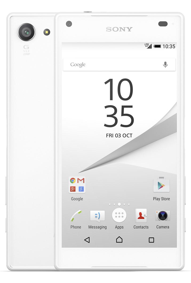 Sony Xperia Z5 Compact, WhiteE5823WhiteSony Xperia Z5 Compact - не просто функциональный смартфон. Это устройство, которое расширяет ваши возможности и горизонты. По своим функциям он не уступает смартфонам с большими дисплеями, а благодаря компактному размеру его удобнее использовать в повседневной жизни. В нем всё идеально сбалансировано: дизайн, доступный в разных расцветках, инновации, которые позволяют идти в ногу с прогрессом, и комфортный размер дисплея - 4,6 дюйма. Данная модель имеет комфортные для работы компактные размеры, яркий красочный экран и элементы дизайна, которые притягивают взгляды окружающих. Стильное тиснение на рамке и матированное стекло на задней панели никого не оставит равнодушным. С водостойким корпусом Sony вам больше не придется бояться воды Xperia Z5 Compact не боится воды: он имеет водостойкий корпус, способный выдержать погружение на глубину более метра. Поэтому вам нечего беспокоиться, если вы пролили на него жидкость или попали с ним под дождь. ...