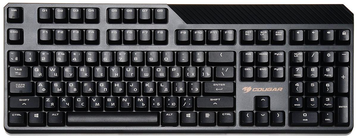 Cougar Attack 2 (Cherry MX Black) игровая клавиатураCUv2bkМеханическая клавиатура Cougar Attack 2 разработана с учетом всех ключевых особенностей, необходимых игрокам. Cougar Attack2 создана для одной задачи - приносить победы в играх владельцу. Механические свичи Cherry MX: Механические клавиши обеспечивают оперативность, необходимую для клавиатуры игрового уровня, и отличные тактильные ощущения при ее использовании. Технология Cherry MX гарантирует длительное пользование клавиатурой с максимальным ресурсом до 50 миллионов нажатий. Технология Anti-ghosting: Технология Anti-ghosting клавиатуры Attack позволяет вам одновременно нажимать до 12 клавиш и получать при этом точную обратную связь. Функциональные клавиши: 4 функциональные клавиши. Управление звуком, громче, тише, выключение звука. Блокировка клавиши Windows. Программируемые G-клавиши: Никакого периода привыкания, Attack 2 использует стандартную проверенную временем раскладку, с дополнительными 8...