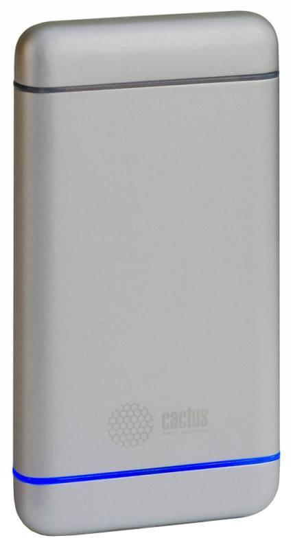 Cactus CS-PBMS028-5000AL, Silver внешний аккумулятор (5000 мАч)CS-PBMS028-5000ALАккумуляторная батарея Cactus CS-PBMS028-5000AL 5000mAh серебристый