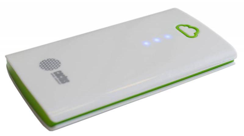 Cactus CS-PBA40-4700WB, Green White внешний аккумулятор (4700 мАч)CS-PBA40-4700WBАккумуляторная батарея Cactus CS-PBA40-4700WB 4700mAh белый/зеленый