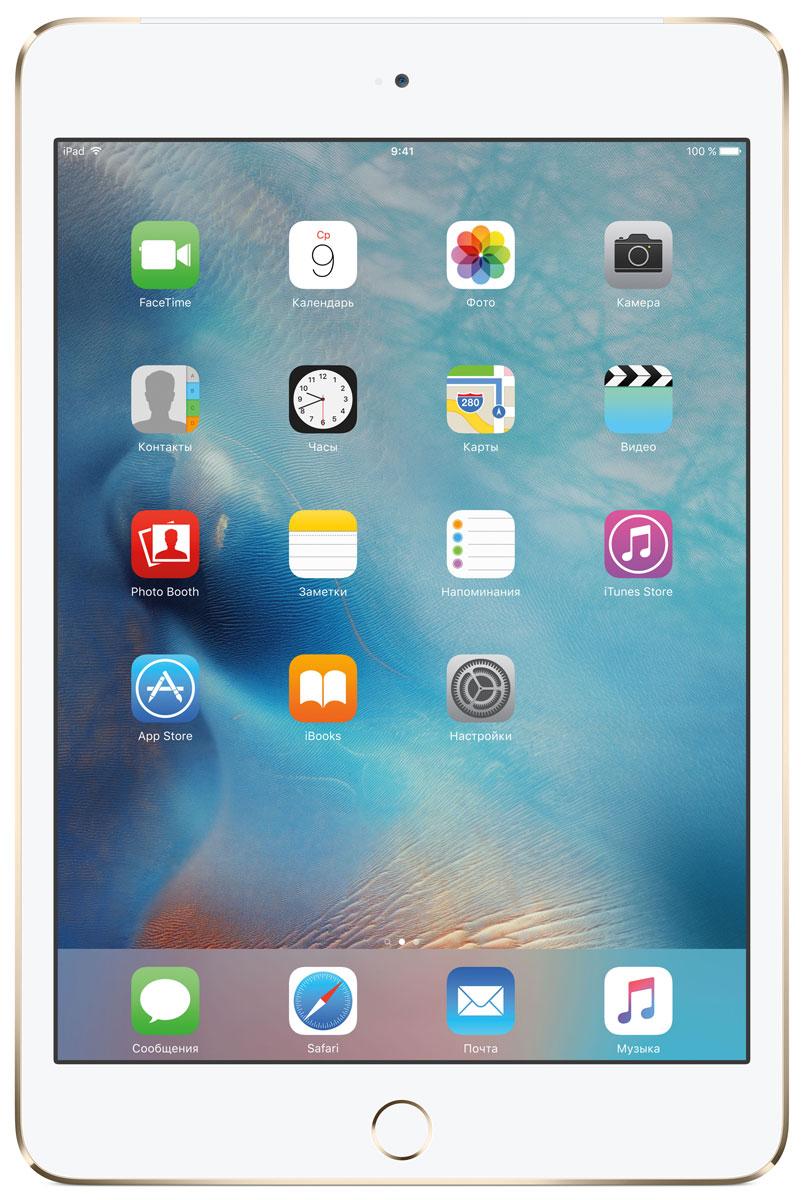 Apple iPad mini 4 Wi-Fi + Cellular 128GB, GoldMK782RU/AВ ещё более лёгком, тонком и элегантном корпусе iPad mini 4 помещается всё то, что вам так нравится в iPad. Игры, покупки, фильмы и даже работа - всё выглядит невероятно увлекательно на великолепном дисплее Retina. Теперь у вас ещё больше причин всегда брать iPad с собой. iPad mini 4 ещё никогда не был таким удобным. Его толщина всего 6,1 мм - и это никак не влияет на прочность. Надёжный и элегантный алюминиевый корпус unibody прослужит долгие годы и всегда будет радовать глаз. Дисплеи iPad mini предыдущих поколений производились из трёх отдельных компонентов. В iPad mini 4 их объединили в один. Исчезло расстояние между слоями, а вместе с ним и внутренние блики. Результат: на дисплее iPad mini 4 цвета стали ещё реалистичнее, а изображения выглядят контрастнее, ярче и резче. Процессор A8 второго поколения с 64-битной архитектурой - это сердце iPad mini 4. Благодаря невероятной производительности все приложения, от видеоредакторов до 3D-игр,...