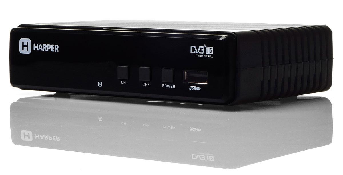Harper HDT2-1513, Black цифровой телевизионный ресивер DVB-T2HDT2-1513Цифровой телевизионный ресивер Harper HDT2-1513 имеет встроенный телегид, который поможет вам определиться с выбором интересного сериала, фильма или передачи. Кроме того, любой фрагмент эфира может быть записан на внешний накопитель и воспроизведен в любое удобное для вас время. Также телевизионный ресивер может использован для воспроизведения мультимедийного контента с внешних накопителей. Устройством поддерживаются практически все актуальные на сегодняшний день форматы, включая MKV-файлы.