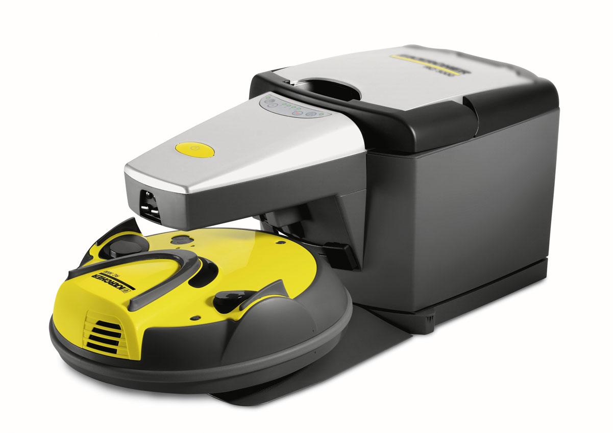 Karcher RC 3000 1.269-101.0 робот-пылесос1.269-101.0Первый в мире полностью автономный робот-пылесос от Karcher. Робот-пылесос от Karcher способен очищать любые распространенные в быту напольные покрытия, в том числе и в Ваше отсутствие. Plug+Clean: достаточно вставить вилку в розетку, включить робот-пылесос, и он будет производить очистку в течение любого желаемого вами времени. Для навигации он использует инфракрасный луч, позволяющий вернуться к базовой станции. Проще не бывает! Аппарат очищает даже труднодоступные участки пола, например, под кроватью, и не требует обслуживания. Собранный роботом-пылесосом мусор автоматически удаляется отсасывающим устройством базы (зарядной станции). Цилиндрическая щетка и всасывающее устройство аппарата RC 3000 обеспечивают очистку на глубину волокон. Интегрированный в нем датчик определяет степень загрязненности пола, в зависимости от которой автоматически выбирается одна из четырех программ чистки. Собственный интеллект RC 3000 позволяет ему выбираться из самых сложных...