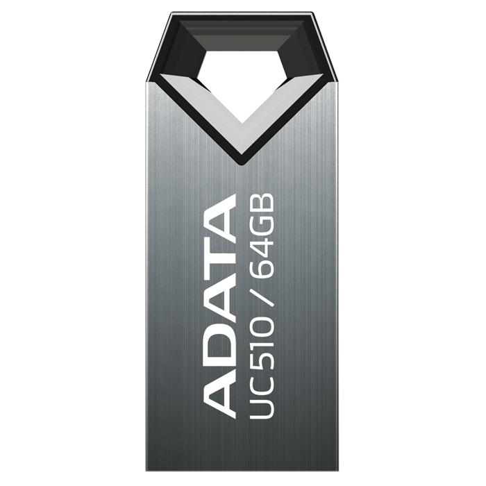 ADATA UC510 64GB, Titan USB-накопительAUC510-64G-RTIADATA UC510 - это сочетание прочности и очарования, упакованное в сверхмалый удобный корпус. Это прочное, надежно защищенное от влаги, ультраминиатюрное устройство очень удобно носить с собой. Корпус флэшки сияет металлическим блеском, а бесколпачковый дизайн означает, что колпачок вам просто не нужен (исключает саму возможность потери колпачка). UC510 - это ваша изюминка, ваш стиль с максимально надежной защитой данных. Ультракомпактный, сверхпортативный корпус занимает минимум места при подключении к переносному или настольному компьютеру. Большое треугольное ушко позволяет носить ее на любых ремешках, шнурках или брелоках для ключей. Это значит, что флэшка будет всегда под рукой. ADATA UC510 производится с использованием особой технологии изготовления приборов типа кристалл-на-плате (СОВ), обеспечивающей их высокую водостойкость и ударопрочность.