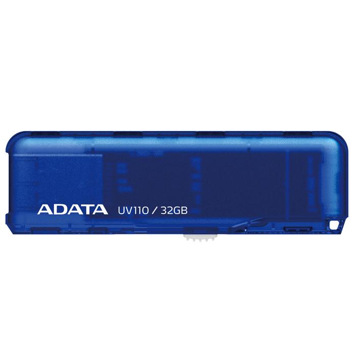 ADATA UV110 32GB, Blue USB-накопительAUV110-32G-RBLФлеш-накопитель ADATA UV110 предназначен для тех, кто ищет экономичное устройство для хранения данных, и предлагается в четырех приятных цветовых исполнениях. Теперь вы можете щеголять флеш-накопителем USB, который соответствует вашему месту в цифровом спектре. Устройство UV110 чрезвычайно экономично и подкрепляется надежностью и обслуживанием компании ADATA. Выберите цвет, соответствующий другим вашим устройствам или просто вашему настроению: королевский синий, цветочный белый, легкий розовый и седельный коричневый - все они добавят новых ярких красок вашим портативным данным. Конструкция с выдвижным разъемом USB предотвращает износ и истирание механизма. Осторожно нажмите на фиксатор и выдвиньте разъем, а затем вставьте его прямо в порт USB на компьютере. Не нужно загружать или устанавливать никакие драйверы. После использования задвиньте разъем USB обратно, чтобы он скрылся внутри корпуса; для ношения устройства вы можете использовать цепочку...